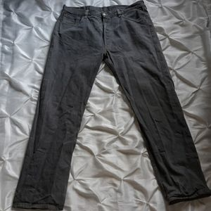 Men's Grey Levi's 501 38x34 Button Fly Jeans